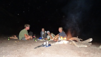 Hawaii-Bondfire with friends